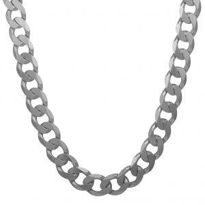 Panzerkette 15mm Massiv 925 Sterling Silber Halskette