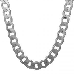 Panzerkette 17mm Massiv 925 Sterling Silber Halskette