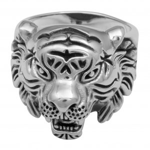Löwenkopf Ring 925 Sterling Silber
