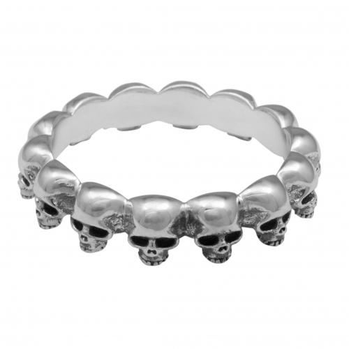 Totenkopf Ring 925 Sterling Silber