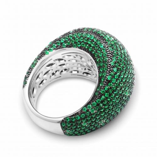 Silber Ring mit grünem Zirkonia Stein