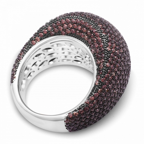 Silber Ring mit braunem Zirkonia Stein