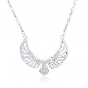 Silberanhänger Adler Vogel mit Zirkonia Steinen