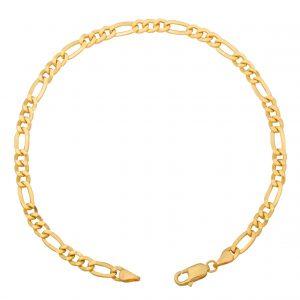 Figaroarmband 18 Karat 750 Gelbgold