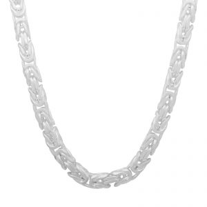Königskette 11x11 mm 925 Sterling Silber
