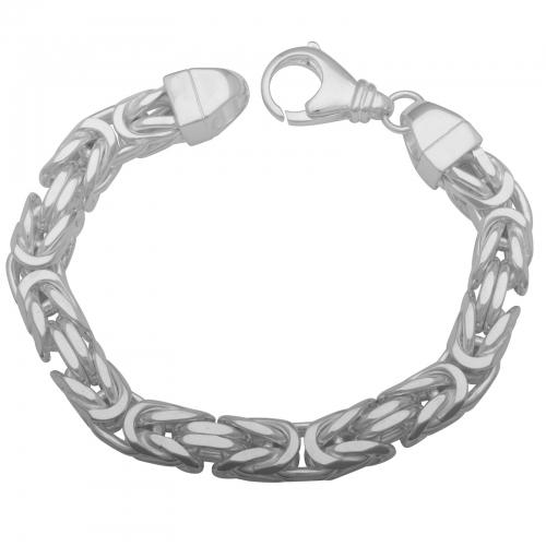 Königsarmband 11x11 mm 925 Sterling Silber