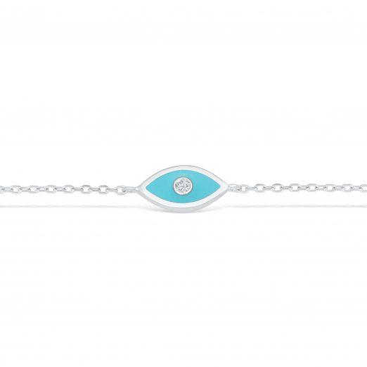 Blaue Auge 925 Sterling Silber