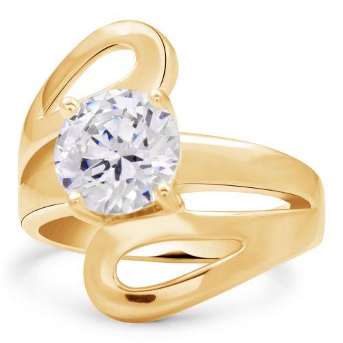 Puzzle Solitär Ring 585er Gold