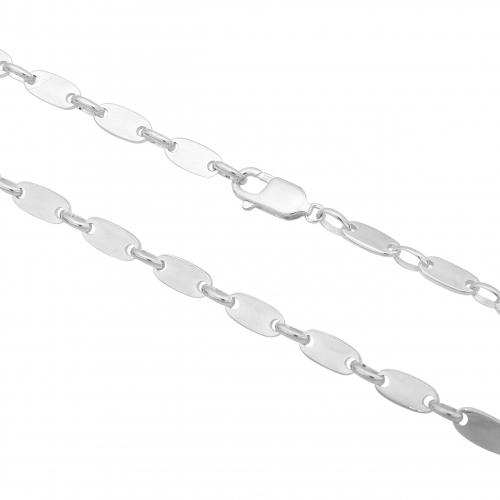 Plattenkette 5mm 925er Silber