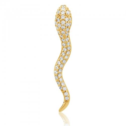 Schlangen Anhänger 585er Gold