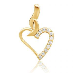 Herz Anhänger 585er Gelb Gold
