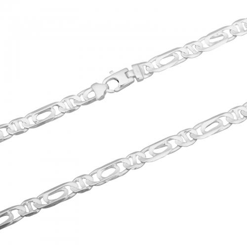 Doppelfigarokette 925er Silber