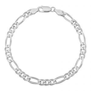 Figaroarmband 5mm 925er Silber
