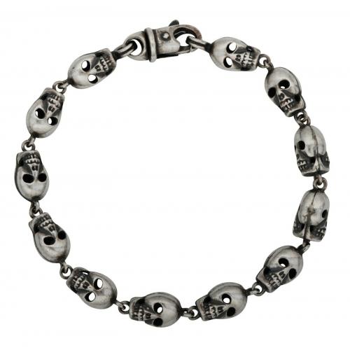 Totenkopfarmband 925er Silber