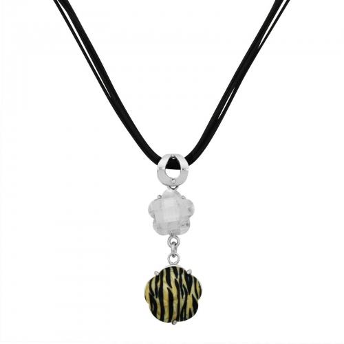 Blumen Tiger Streifen Halskette