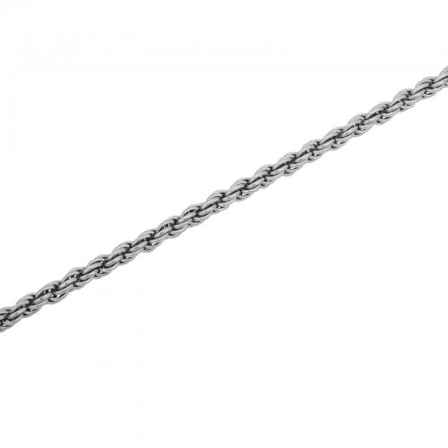 Kordelkette 6mm 925er Silber Rhodiniert