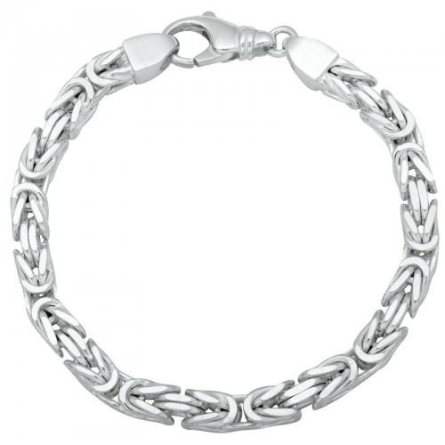 Königsarmband 6mm 925er Silber