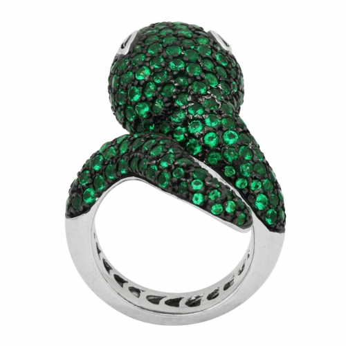 Schlangen Pave Ring 925er Silber