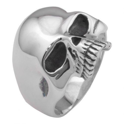 Totenkopf Ring Schlicht -2