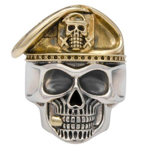 Totenkopf Ring Vergoldet-1