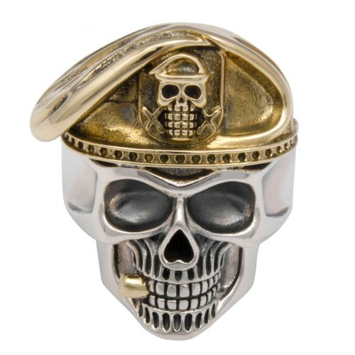 Totenkopf Ring Vergoldet-2