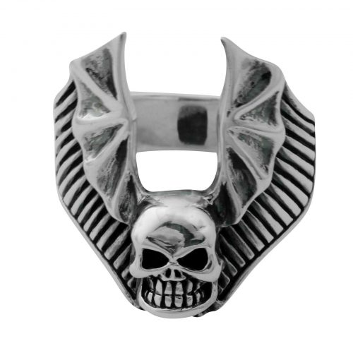 Totenkopfring Fledermaus -4